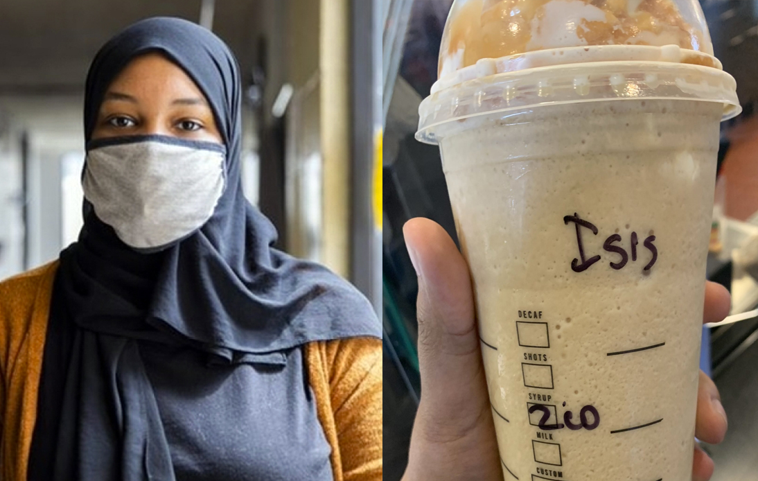 "Starbucks Barista Wrote ""ISIS"" on Muslim Woman's Cup"