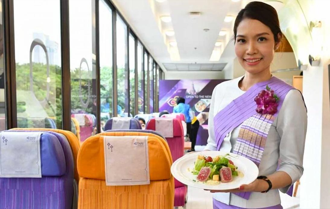 Airplane-Themed Restaurant Opens at Thai Airways HQ