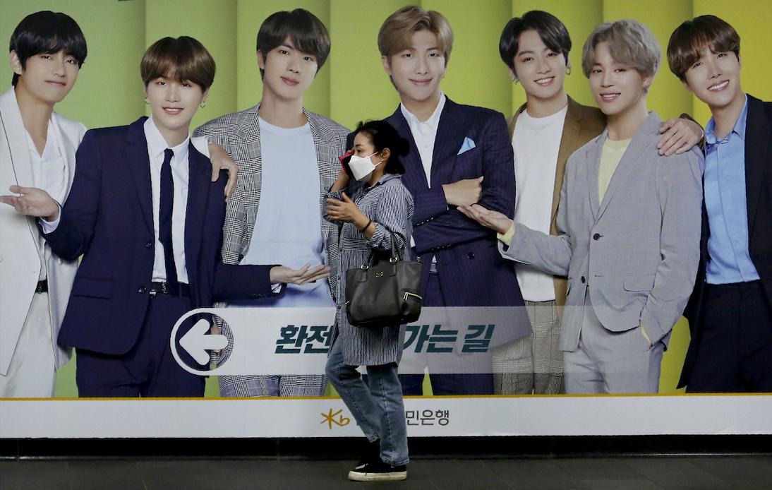 BTS K-pop Band Advertisment