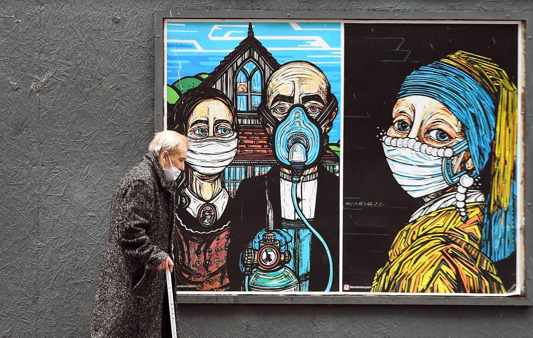 Graffiti in Glasgow in September 2020