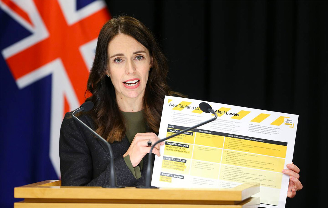 Jacinda Ardern reports the COVID-19 situation in New Zealand