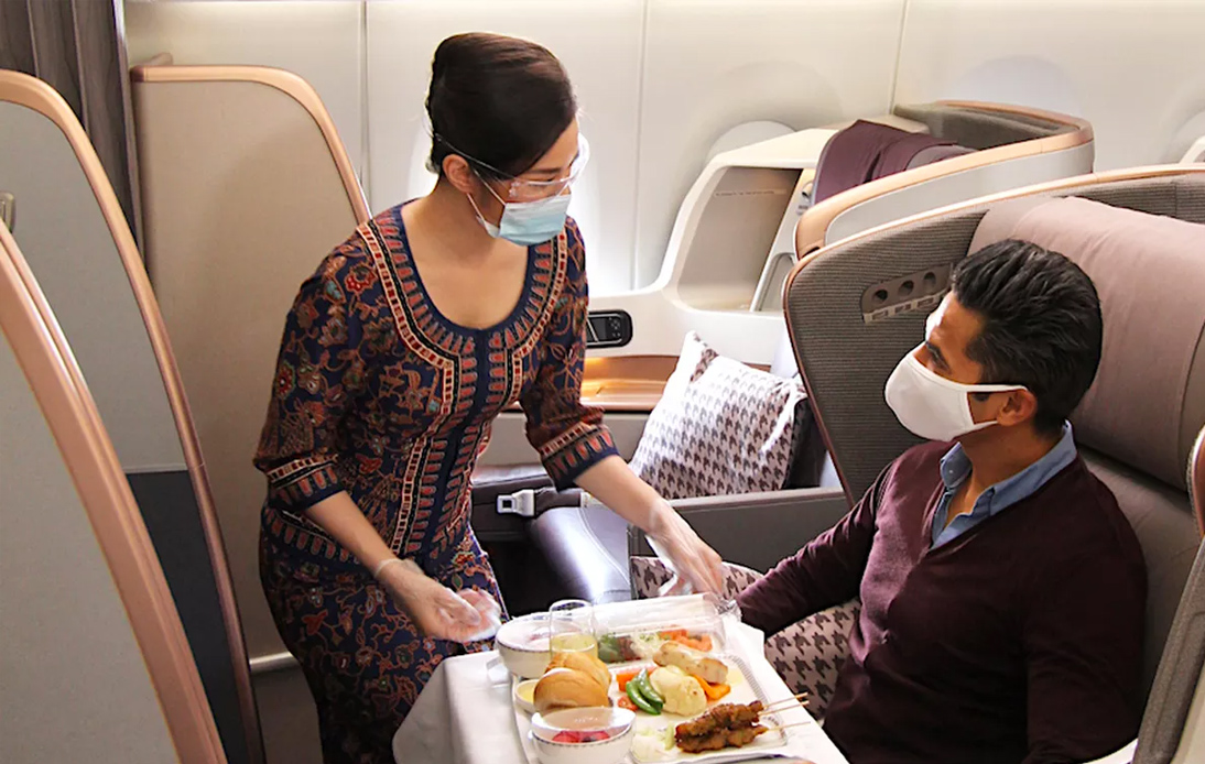 Singapore Airlines Sells Out Food on a Parked Plane
