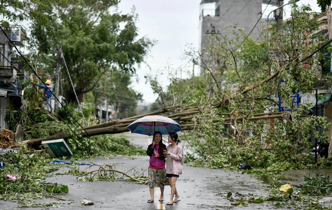 Typhoon Molave hit Vietnam