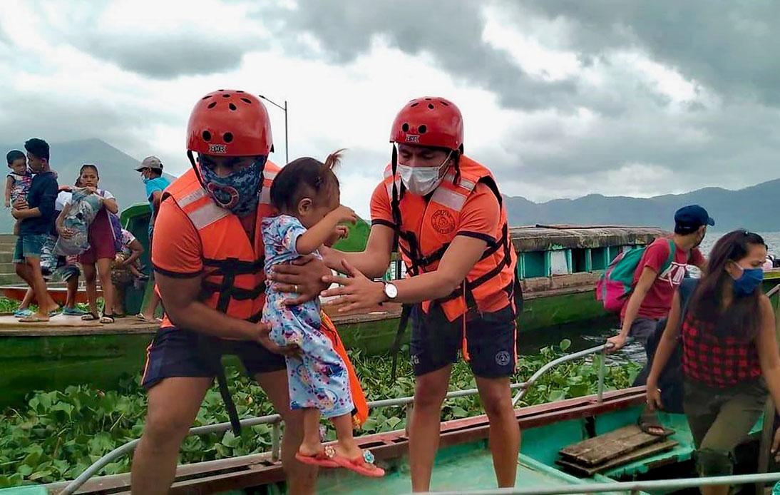Evacuation in Philippines