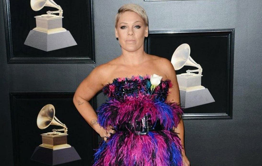 Pink Reveals She Fractured Ankle While Running Down Stairs
