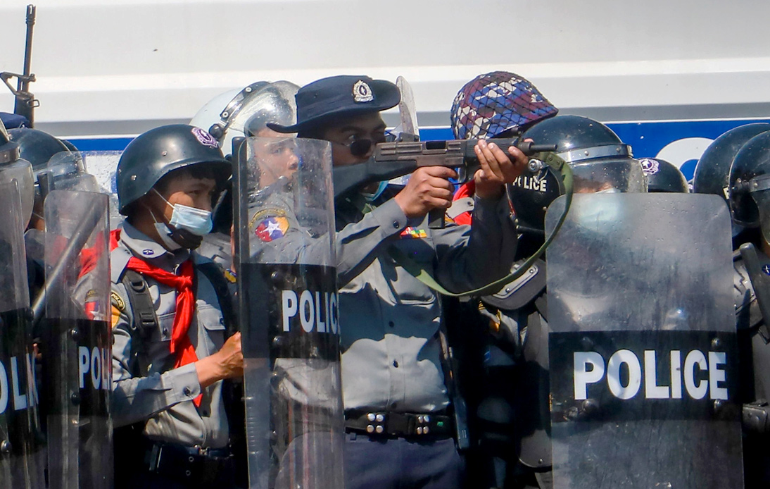 Myanmar Coup: Police Use Force To Disperse Massive Protests