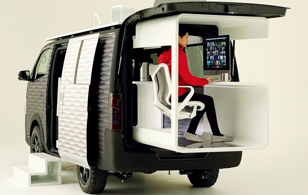 Nissan's New Office Pod Concept Focuses on Remote Working