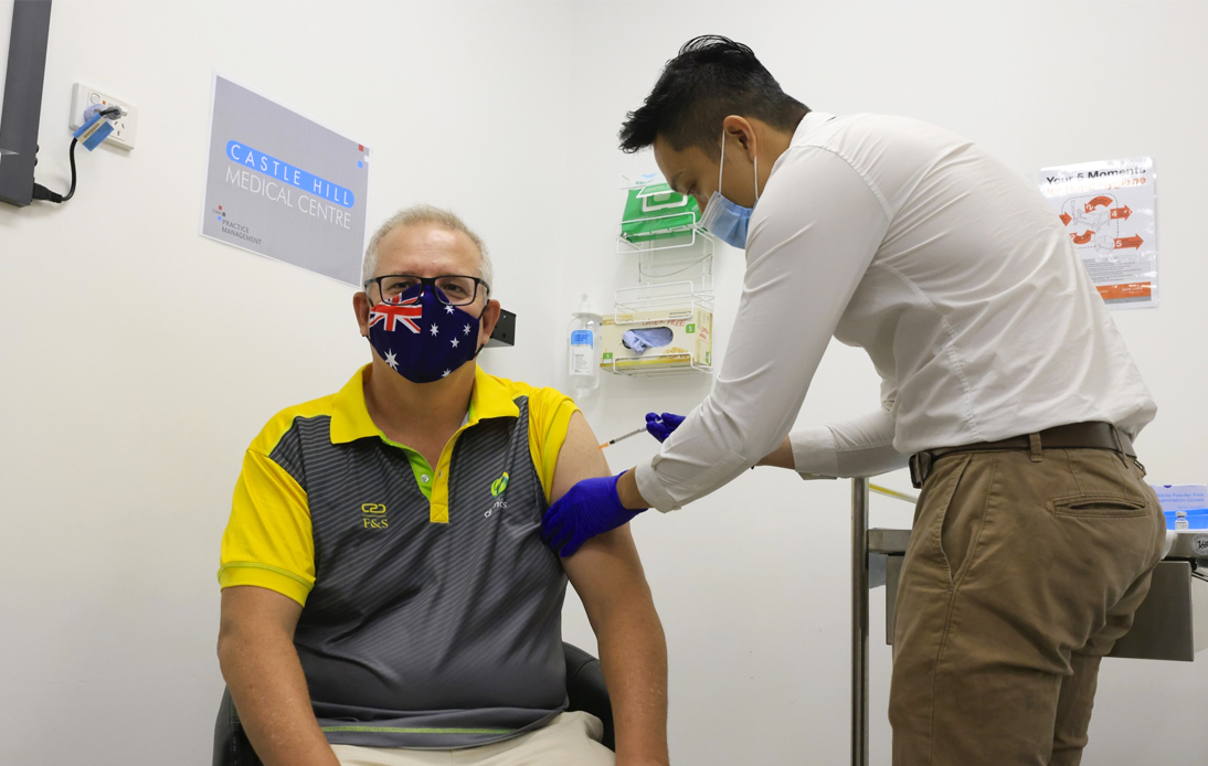 PM Is Among First Australians To Be Given COVID-19 Vaccine