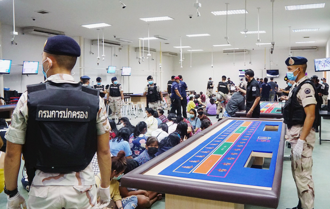 Ten Officials Have Been Linked to Rayong Gambling Dens