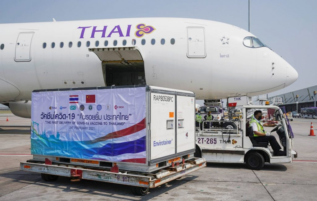First Batch of Coronavirus Vaccines Arrives in Thailand