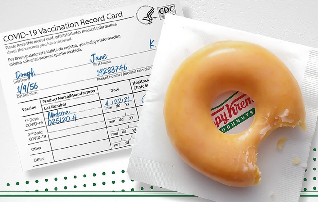 Krispy Kreme Offers Free Doughnuts to Anyone Vaccinated
