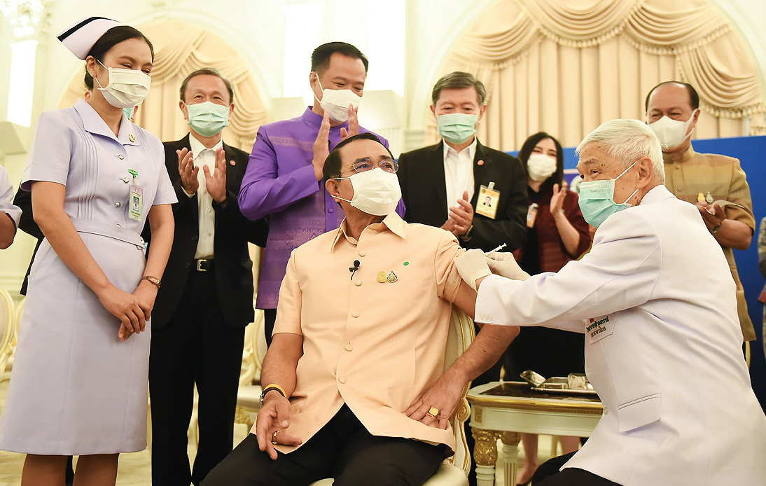 PM and Cabinet Members Given Their First Vaccine Doses