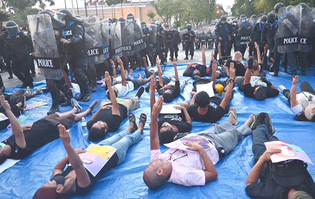 70 Arrested at Pro-Democracy Protest Near Government House