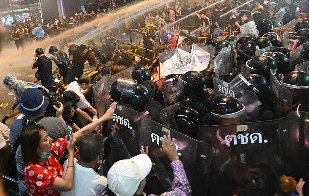 Police Fired Tear Gas and Rubber Bullets at Pro-Democracy Rally
