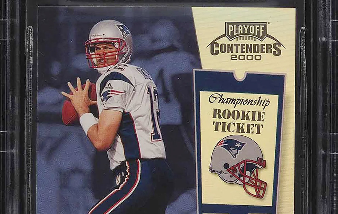 Tom Brady NFL Rookie Card Auctioned for Record $1.32 Million