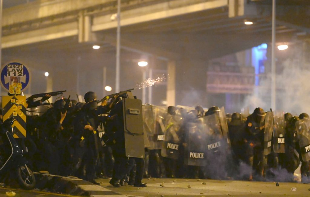 Police Come Under Fire For Actions During Sunday's Violent Riot