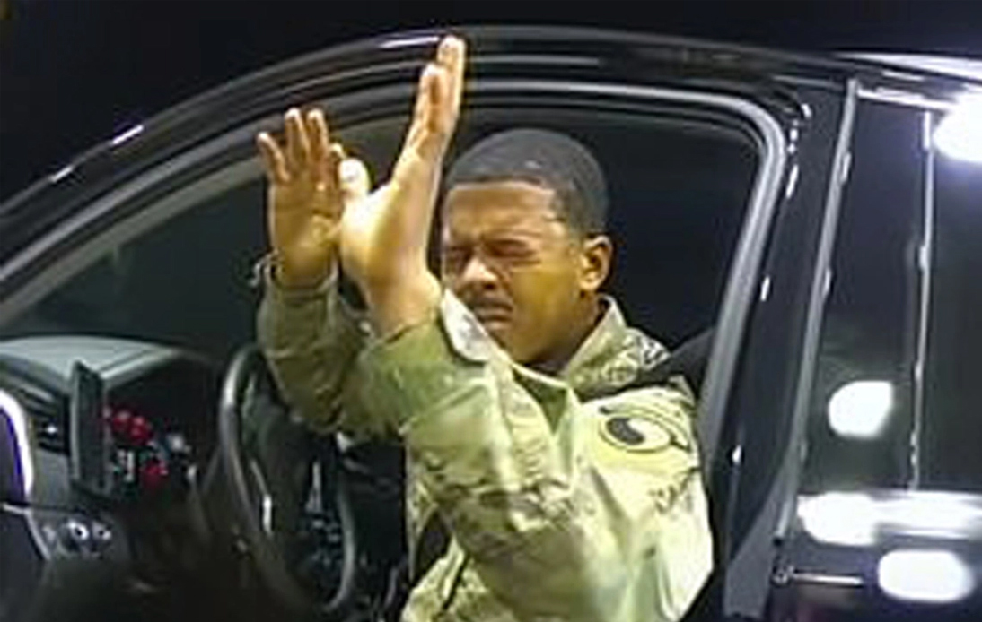 Black US Army Lieutenant Is Pepper Sprayed by Police