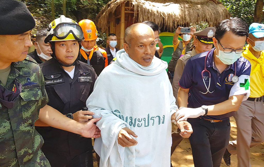 Buddhist Monk Rescued After Four Days Trapped in Cave