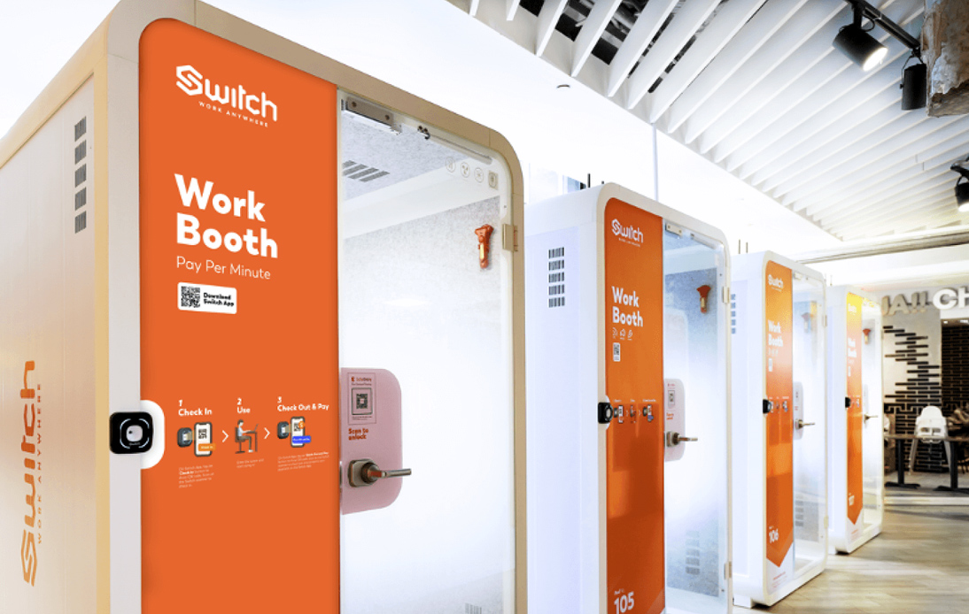Pay-Per-Minute Switch Work Booths Are the Future