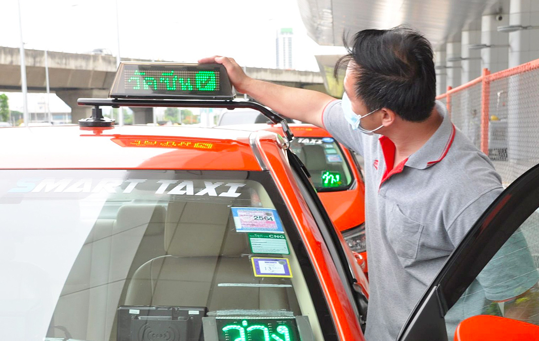 Bangkok's 'Smart Taxis' Starts Fielding Taxis With Vaccinated Drivers