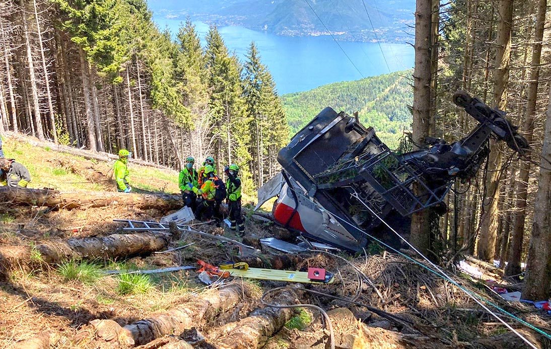 Italian Cable Car Plunges Into Woodland, Killing 14 People