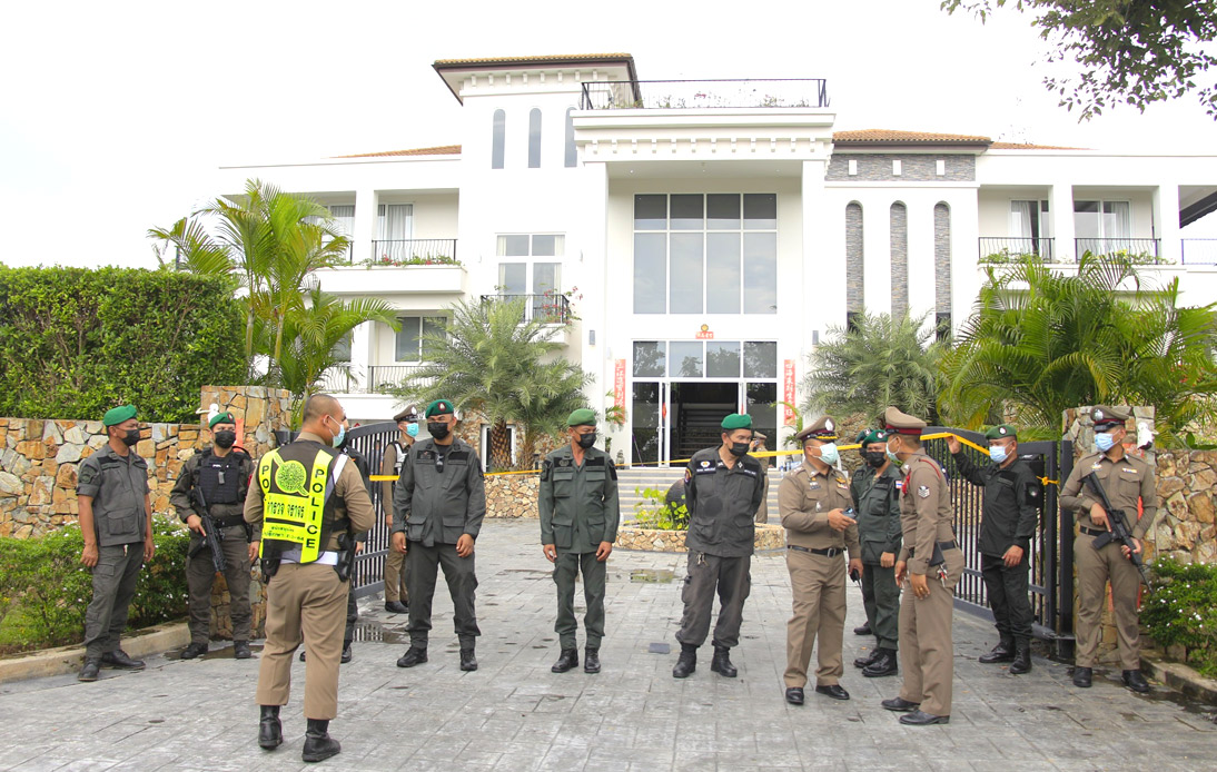 Raid on Luxury Golf-Course House Leaves Two Pattaya Police Shot