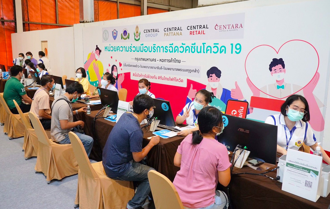 CentralwOrld Becomes 8th Central Shopping Center To Host Vaccination Spot