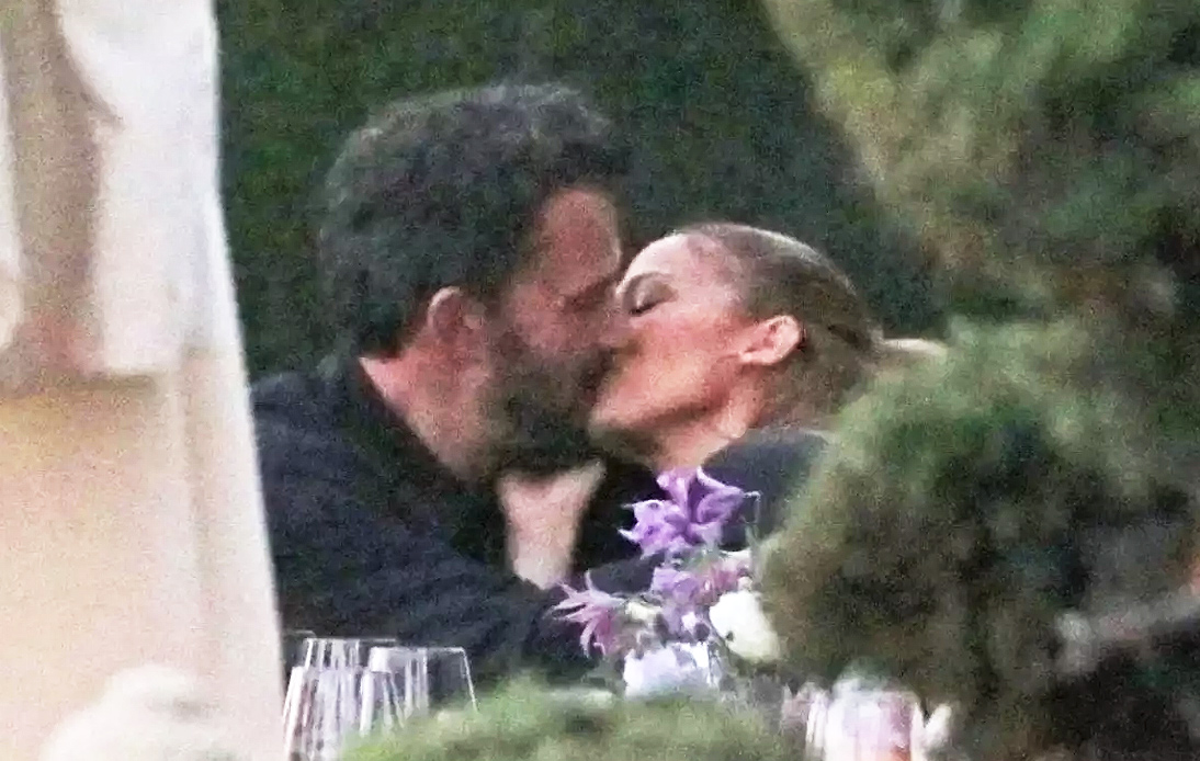 JLo Spotted Kissing Ben Affleck During Family Dinner in Malibu