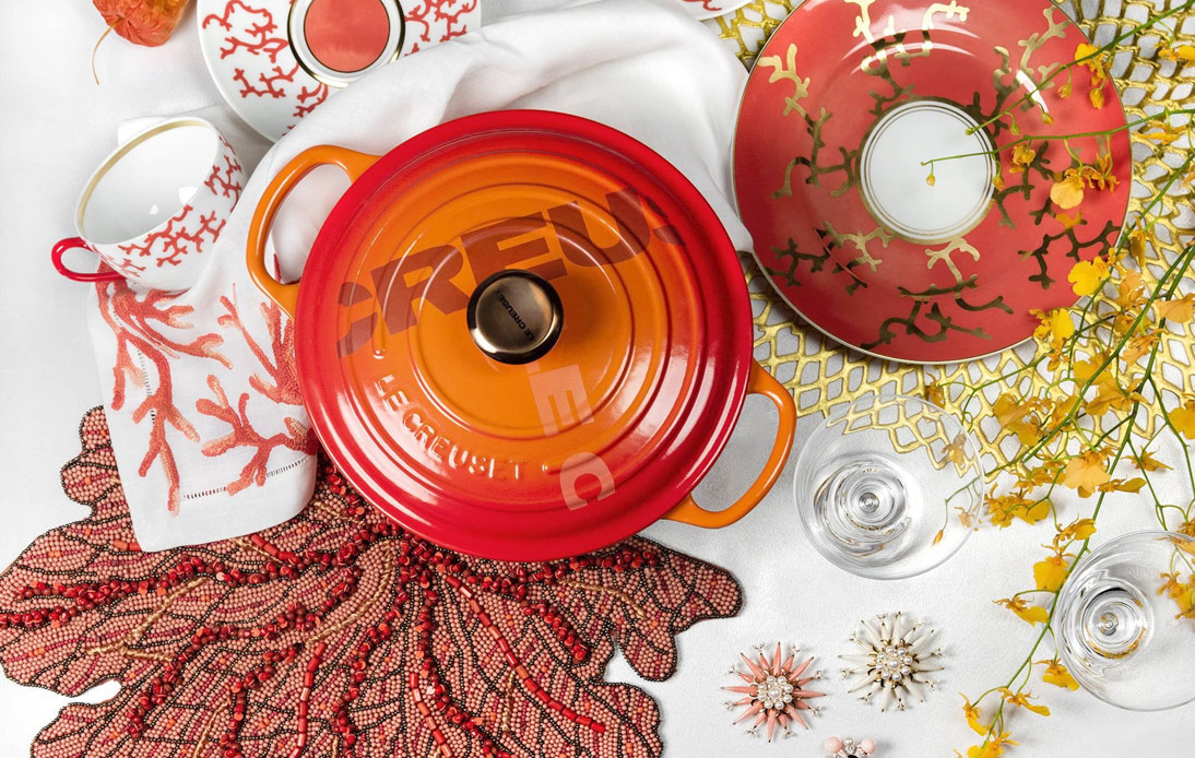 Le Creuset Launches Big Logo Collection, Showing Its New Trends