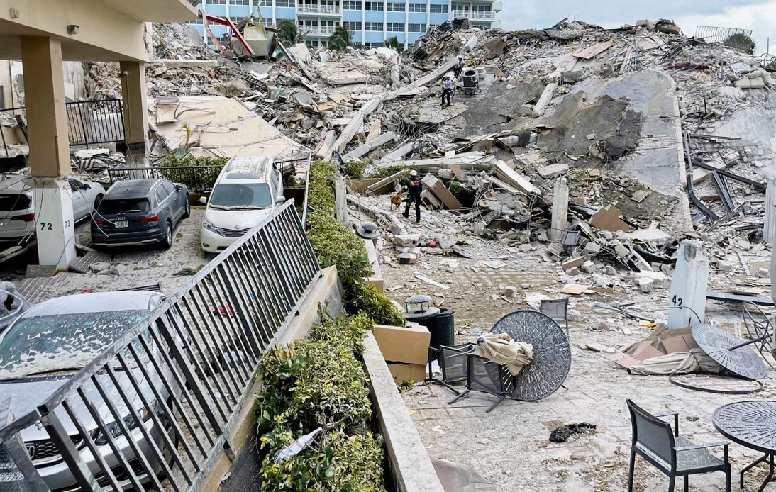 Collapsed Miami Condo Search Goes On, 12 Deaths Confirmed
