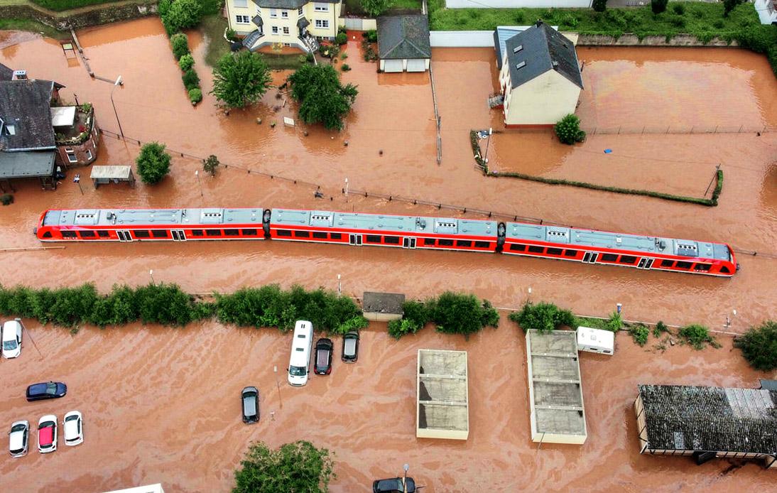"""Angela Merkel Calls European Flood Devastation """"Surreal"""""""