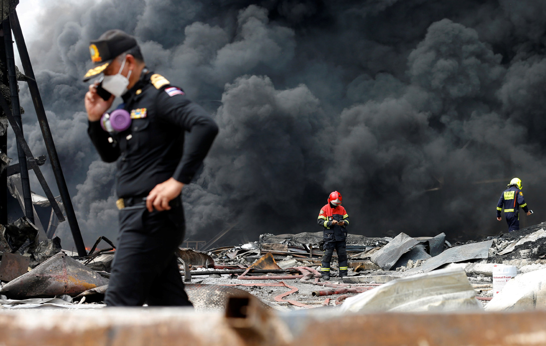 Evacuations After Huge Explosion at Samut Prakan Factory