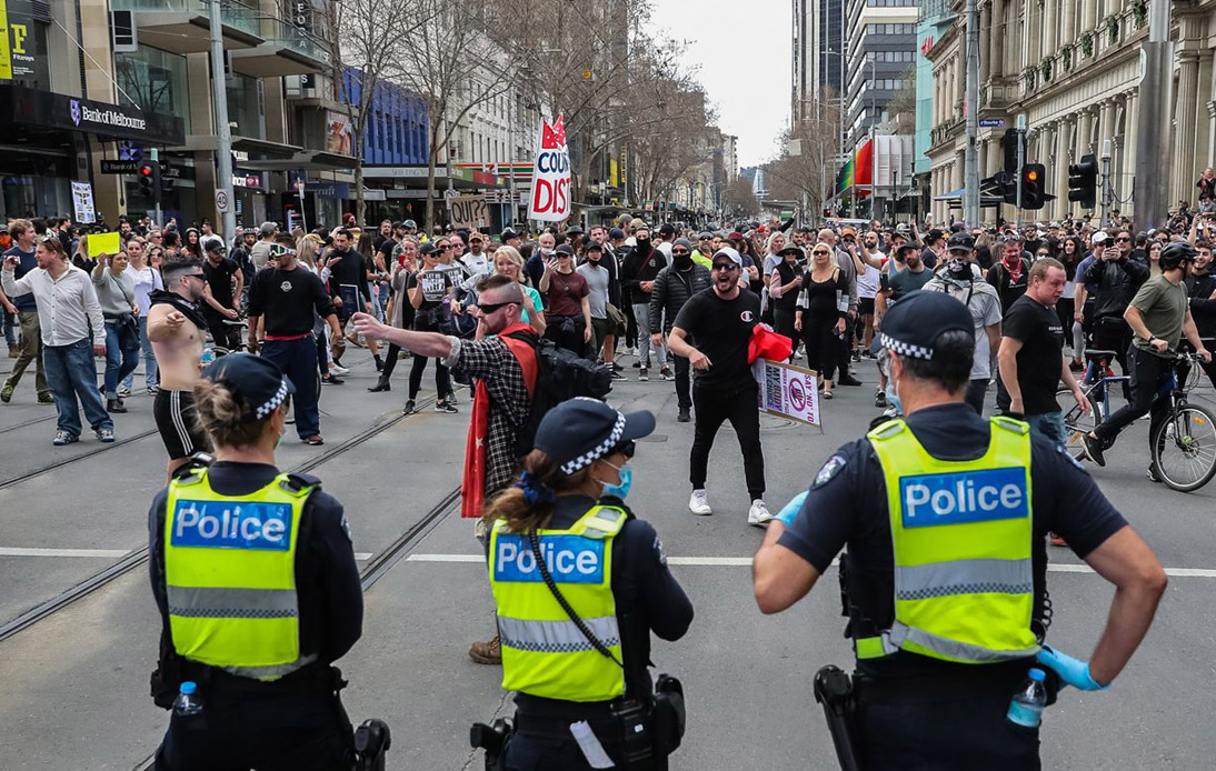Australia Sees Large Numbers for Anti-Lockdown Protests