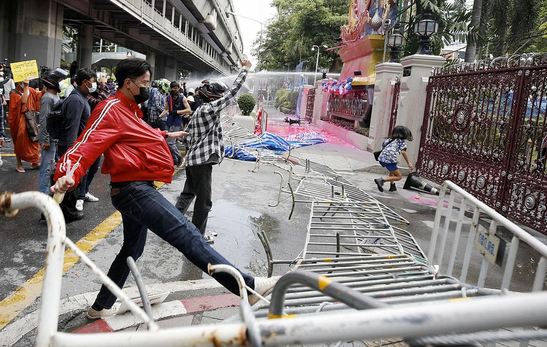 Latest Rally: Protesters Vandalize Royal Thai Police Office
