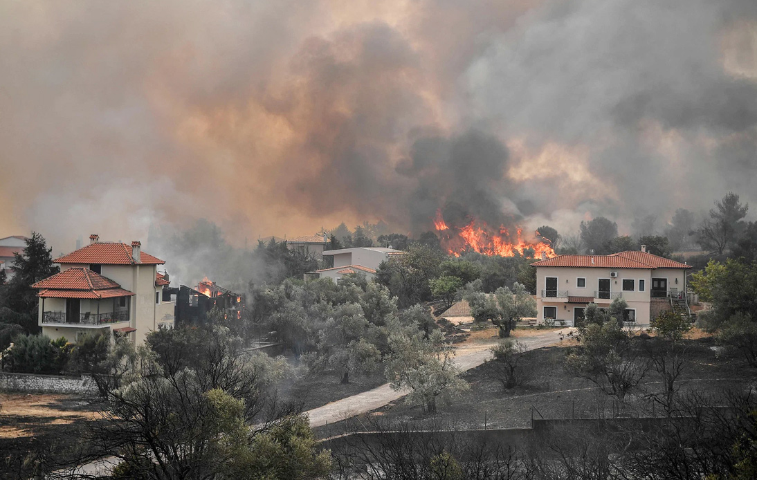Greece: Raging Wildfires Force Hundreds To Evacuate Homes