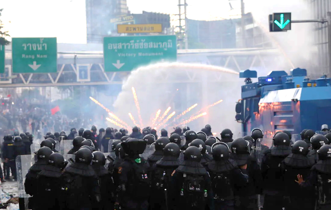Police Disperse Protesters With Rubber Bullets, Water Cannon