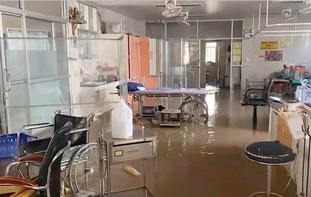 Heavy Flooding at Chaiyaphum Hospital, Patients Evacuated