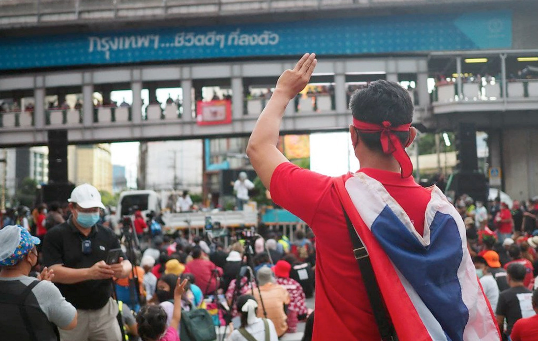 Large Crowd at Asok Rally To Criticize Prayut Performance