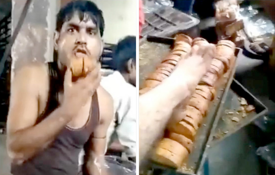 Police Hunt Foreigner in Video 'Using Feet To Prepare Bread'